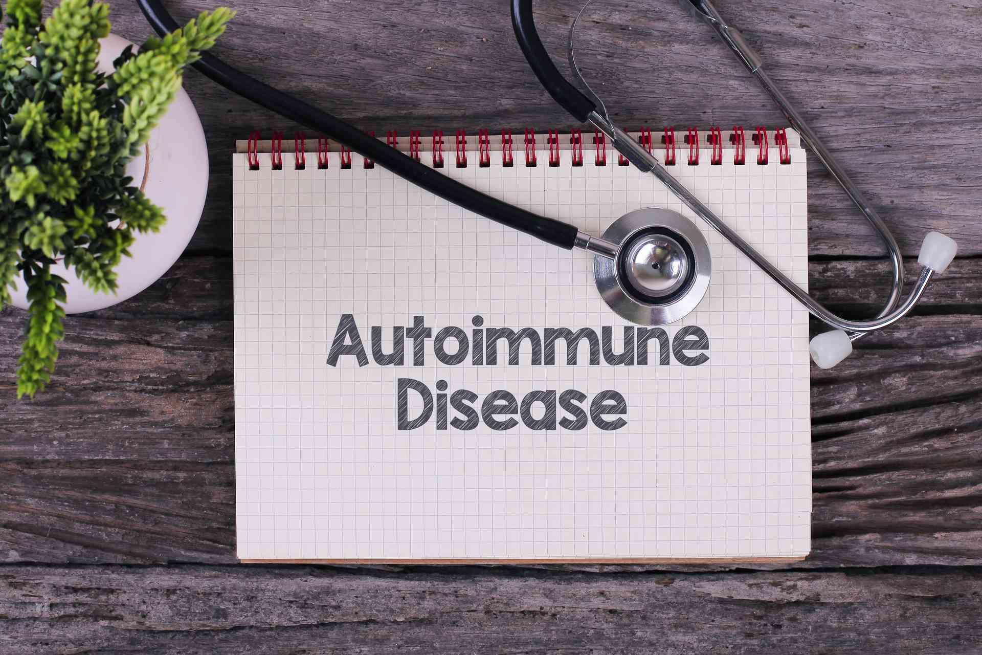 "En blok med skriften ""Autoimmune Disease"""